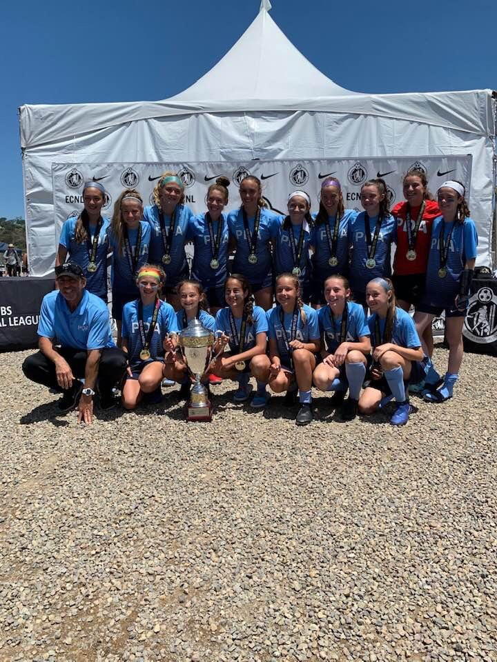 The  U13 PDA ECNL 06 Blue (the Wolves) won the ECNL National Championship!